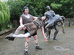 Cuchulainn and Ferdia, brothers Peter and Patrick Lawless. Photo: Colin Bell/pressphotos.ie