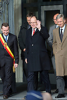Prince Albert II Of Monaco in Belgium with Prince Philippe Of Belgium