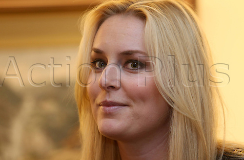 25.11.2012 Aspen Colorado, USA. Lindsey Vonn USA during a press conference ahead of the FIS Womens World Cup Slalom.