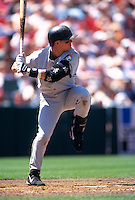 SAN FRANCISCO, CA:  Craig Biggio of the Houston Astros in action during a game against the San Francisco Giants at Candlestick Park in San Francisco, California in 1999. (Photo by Brad Mangin)