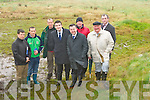 Cromane residents show the areas that floods that is affecting their houses to Minister Brian Hayes during his visit to Cromane on Friday l-r: Jimmy Healy, Patrick O'Sullivan, Ben Cronier, Brendan Griffin TD, Minister Brian Hayes, Denis Brennan, Des O'Neill and Cllr Michael Cahill......