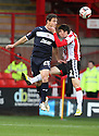 Oliver Risser of Stevenage (On loan from Swindon Town) and Darryl Westlake of Sheffield United challenge for a header.  Sheffield United v Stevenage - npower League 1 -  Bramall Lane, Sheffield - 17th November, 2012. © Kevin Coleman 2012