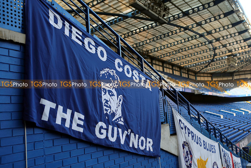 Diego Costa banner 'The Guv'nor' on display at Chelsea pre-match during Chelsea vs Hull City, Premier League Football at Stamford Bridge on 22nd January 2017
