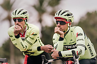 John DEGENKOLB (DEU/Trek-Segafredo) & Edward THEUNS (BEL/Trek-Segafredo) thinking alike...<br /> <br /> Team Trek-Segafredo training camp<br /> Mallorca jan2019<br /> <br /> ©kramon