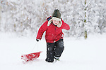 Pix: Shaun Flannery/shaunflanneryphotography.com...COPYRIGHT PICTURE>>SHAUN FLANNERY>01302-570814>>07778315553>>..1st December 2010...........Snowfall in the United Kingdom, December 2010..Young people enjoy a 'snow day' sledging and snow balling in Doncaster, South Yorkshire.