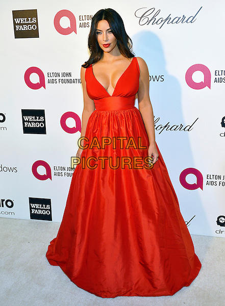 02 March 2014 - West Hollywood, California - Kim Kardashian. 22nd Annual Elton John Academy Awards Viewing Party held at West Hollywood Park.  <br /> CAP/ADM/CC<br /> &copy;ChewAdMedia/Capital Pictures