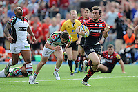 Marcelo Bosch of Saracens accelerates away in midfield during the Aviva Premiership semi final match between Saracens and Harlequins at Allianz Park on Saturday 17th May 2014 (Photo by Rob Munro)