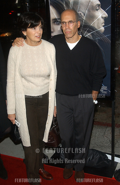 Dreamworks boss JEFFREY KATZENBERG & wife at the world premiere of House of Sand and Fog, as part of the AFI Film Festival in Los Angeles..November 9, 2003
