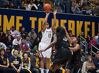 Brittany Boyd of California shoots the ball during the game against Stanford at Haas Pavilion in Berkeley, California on February 2nd 2014.   Stanford defeated California, 79-64.