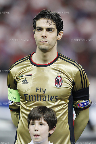 Kaka (Milan), MARCH 11, 2014 - Football / Soccer : UEFA Champions League match between Atletico de Madrid and AC Milan at the Vicente Calderon Stadium in Madrid, Spain. (Photo by AFLO) [3604]
