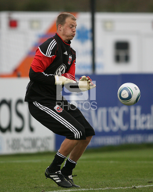 Joe Willis#31of D.C. United during a second round match of the Carolina Challenge against the Chicago Fire on March 9 2011 at Blackbaud Stadium, in Charleston, South Carolina. D.C. United won 1-0.
