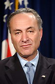 United States Senator Chuck Schumer (Democrat of New York) joined with bi-partisan colleagues at a Capitol Hill press conference in Washington, DC on April 2, 2003.   Schumer, who was joined by US Senator Barbara Boxer (Democrat of California), US Representative Steve Israel (Democrat of New York), and US Representative John Mica (Republican of Florida), said they would seek $30 million in the supplemental appropriations bill to research, develop, and begin deploying technology to protect commercial aircraft from the threat posed by shoulder-fired missiles.<br /> Credit: Ron Sachs / CNP<br /> (RESTRICTION: NO New York or New Jersey Newspapers or newspapers within a 75 mile radius of New York City)