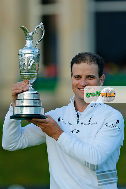 Zach JOHNSON (USA) winner of the 144th Open Championship, St Andrews Old Course, St Andrews, Fife, Scotland. 20/07/2015.<br /> Picture: Golffile | Fran Caffrey<br /> <br /> <br /> All photo usage must carry mandatory copyright credit (&copy; Golffile | Fran Caffrey)