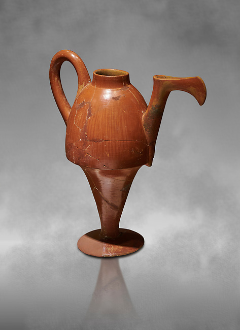 Terra cotta Hittite beaker shaped side spouted pitcher - 1700 BC to 1500BC - Kültepe Kanesh - Museum of Anatolian Civilisations, Ankara, Turkey
