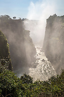 Morning scene of the Victoria Falls Gorge