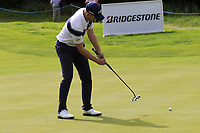 Stuart Manley (WAL) takes his putt on the 15th green during Sunday's Final Round of the Northern Ireland Open 2018 presented by Modest Golf held at Galgorm Castle Golf Club, Ballymena, Northern Ireland. 19th August 2018.<br /> Picture: Eoin Clarke | Golffile<br /> <br /> <br /> All photos usage must carry mandatory copyright credit (&copy; Golffile | Eoin Clarke)