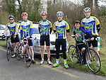 Members of Drogheda Wheelers cycle club Lenny McManus, Paddy Delaney, Brenday McEntee, Geariod Campbell, Cian Campbell and Darragh Campbell who took part in the Coombes Connor Memorial Cycle race. Photo:Colin Bell/pressphotos.ie
