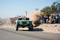 B.J. Baldwin Trophy Truck arriving at finish of 2012 San Felipe Baja 250, San Felipe, Baja California, Mexico