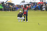 Brooks Koepka (USA) on the 6th green during Sunday's Final Round of the 148th Open Championship, Royal Portrush Golf Club, Portrush, County Antrim, Northern Ireland. 21/07/2019.<br /> Picture Eoin Clarke / Golffile.ie<br /> <br /> All photo usage must carry mandatory copyright credit (© Golffile | Eoin Clarke)