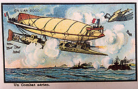 BNPS.co.uk (01202 558833)<br /> Pic:  Hansons/BNPS<br /> <br /> Many of the pictures depict people on bizarre flying machines.<br /> <br /> A remarkable set of drawings which were produced in 1899 to predict the future have come to light - and some of the ideas are plain wacky.<br /> <br /> Their outlandish vision of the world in 2000 includes flying cars, whales pulling coaches and games of croquet under the sea.<br /> <br /> The illustrations were produced by a group of French artists for a Paris exhibition entitled 'En L'An 2000'. (In the year 2000)<br /> <br /> They did not foresee a man on the moon or the first computer, but predicted people would be playing tennis with bat wings.
