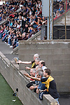 Stenhousemuir 0 Alloa Athletic 1, 21/08/2010. Stadium, Scottish Second Division. Supporters of Alloa Athletic football club queueing for refreshments at half time at Ochilview stadium, Larbert, during their Irn Bru Scottish League second division match against Stenhousemuir. Alloa won the match by one goal to nil against their local rivals in a match watched by 619 spectators. Photo by Colin McPherson.