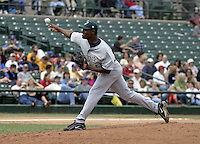 June 22, 2004:  Courtney Duncan of the Charlotte Knights, International League (AAA) affiliate of the Chicago White Sox, during a game at Frontier Field in Rochester, NY.  Photo by:  Mike Janes/Four Seam Images