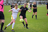 Action from the Northern Region Football League Women match between Eastern Suburbs and Forrest Hill Milfordl at Madill's Farm in Auckland, New Zealand on Sunday, 26 July 2020. Photo: Dave Lintott / lintottphoto.co.nz
