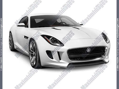 2012 Jaguar C-X16 concept sports car isolated on white background with clipping path