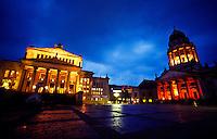Gendarmenmarkt (Schauspielhaus on left and Franzosischerdom on right),.Berlin, Germany