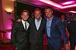 Geraint Hardy, Philip Glenister and Kenny Logan.<br /> Celebrity Cup Gala Dinner<br /> Celtic Manor Resort<br /> 05.07.14<br /> &copy;Steve Pope-SPORTINGWALES