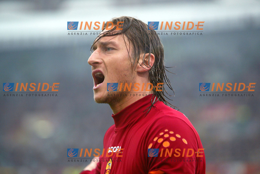 Roma 22/2/2004 <br /> Roma Siena 6-0 <br /> Francesco Totti (Roma) screams towards the linesman<br /> Photo Andrea Staccioli Insidefoto