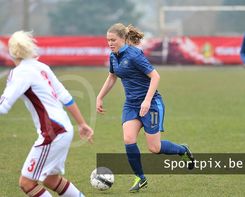 France U19 - Russia U19 : Léa Declercq.foto DAVID CATRY / Nikonpro.be