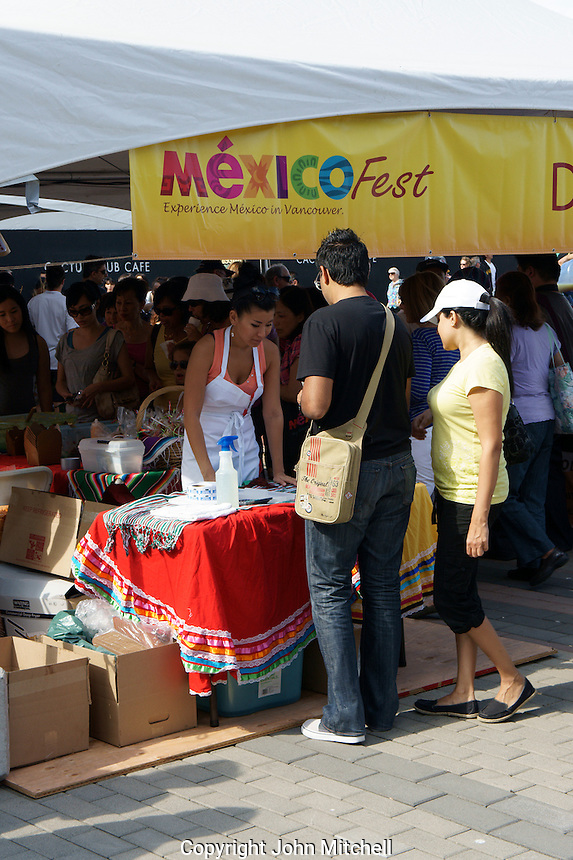 Ticket seller at the Mexico Fest 2012 celebrations on Sept. 8, 2012 in Vancouver, British Columbia, Canada. These celebrations commemorated 202 years of Mexican Independence.