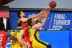 Mateo SERIC (BA)<br /> Aktion,Zweikampf gegen<br /> Ian HUMMER (OL).<br /> <br /> Basketball 1.Bundesliga,BBL, nph0001-Finalturnier 2020.<br /> Viertelfinale am 18.06.2020.<br /> <br /> BROSE BAMBERG-EWE BASKETS OLDENBURG,<br /> Audi Dome<br /> <br /> Foto:Frank Hoermann / SVEN SIMON / /Pool/nordphoto<br /> <br /> National and international News-Agencies OUT - Editorial Use ONLY