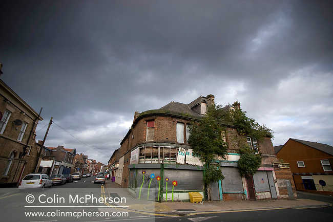 Derelict shops and businesses in the Liverpool suburb of Garston. The area of Speke Garston has been identified as one of Britain's most deprived and is seen as vulnerable to cuts in investment should the UK enter a full recession as a result of the credit crunch.