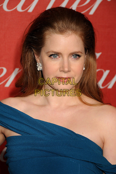AMY ADAMS .2011 Palm Springs International Film Festival Awards Gala held at the Palm Springs Convention Centre, Hollywood, California, USA, .8th January 2011..portrait headshot earring teal blue off the shoulder .CAP/ADM/BP.©Byron Purvis/AdMedia/Capital Pictures.