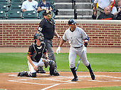 Baltimore, MD - May 8, 2009 -- New York Yankees third baseman Alex Rodriguez (13) watches the flight of the ball after connecting for a first inning three-run home run against the Baltimore Orioles at Oriole Park at Camden Yards in Baltimore, MD on Friday, May 8, 2009.  Rodriguez hit it on the first pitch..Credit: Ron Sachs / CNP.(RESTRICTION: NO New York or New Jersey Newspapers or newspapers within a 75 mile radius of New York City)