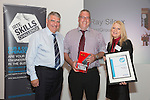 17/07/2015 The IRTE Skills Challenge 2015 prize-giving takes place at The National Motorcycle Museum, Birmingham. Sir Moir Lockhead (left) presents the Top Scoring Mechanical Technician prize to Ray Silcox (centre) of FirstGroup with sponsor Patricia Ann Cobbald of Allison Transmission.