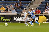 Chicago, IL - Wednesday Sept. 07, 2016: Becky Sauerbrunn, Christen Press during a regular season National Women's Soccer League (NWSL) match between the Chicago Red Stars and FC Kansas City at Toyota Park.