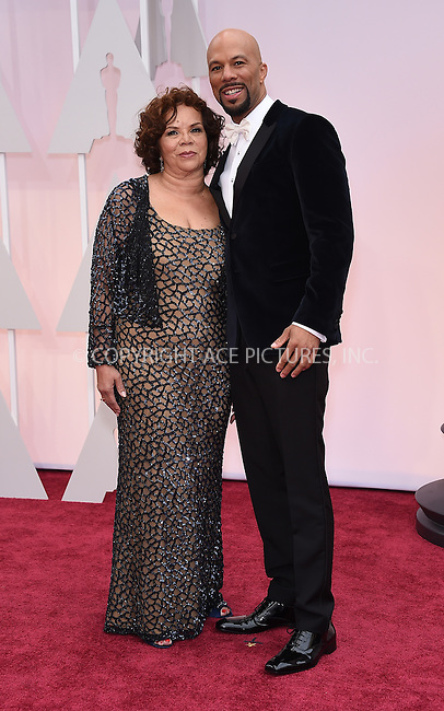 WWW.ACEPIXS.COM<br /> <br /> February 22 2015, LA<br /> <br /> Common arriving at the 87th Annual Academy Awards at the Hollywood &amp; Highland Center on February 22, 2015 in Hollywood, California.<br /> <br /> By Line: Z15/ACE Pictures<br /> <br /> <br /> ACE Pictures, Inc.<br /> tel: 646 769 0430<br /> Email: info@acepixs.com<br /> www.acepixs.com