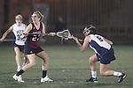 Santa Barbara, CA 02/18/12 - Kathleen Dermody (Santa Clara #23) and Samantha  Myers (Pittsburg #8) in action during the Pittsburg vs Santa Clara matchup at the 2012 Santa Barbara Shootout.  Santa Clara defeated Pittsburg 12-9.