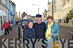 Doing their Christmas shopping local in Cahersiveen on Friday were Rosaleen O'Connell, Dan and Mary McCrothan.