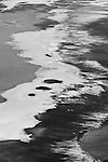 Black and white abstract at Badwater in Death Valley California