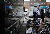 Danny Van Poppel (NLD/Trek Factory Racing) warming up<br /> <br /> 3 Days of De Panne 2015<br /> stage 3b: De Panne-De Panne TT