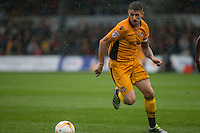 Scot Bennett of Newport County during the Sky Bet League 2 match between Newport County and Barnet at Rodney Parade, Newport, Wales on 3 September 2016. Photo by Mark  Hawkins / PRiME Media Images.