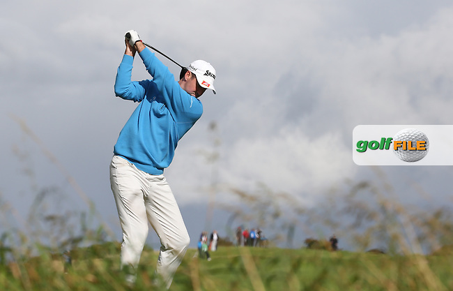 Niall KEARNEY (IRL) drives up the 15th during the final round of  The 106th Irish PGA Championship, at the Moy Valley Hotel & Golf Resort, Kildare, Ireland.  25/09/2016. Picture: David Lloyd | Golffile.