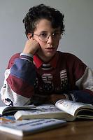 Bambino e libri. Boy and books....
