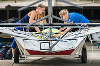 AR_07302016_RIO_HOUSTON_0050.ARW  © Amory Ross / US Sailing Team.  HOUSTON - TEXAS- USA. July 30, 2016. The US Sailing Team moves their boats and equipment from Niteroi, the training center for the past three years, across Guanabara Bay to the new Olympic sailing venue in Rio de Janeiro.