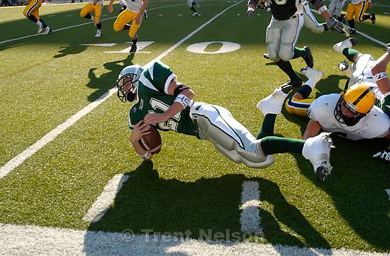 Bonneville vs. Clearfield high school football Saturday afternoon at Rice-Eccles Stadium.<br />