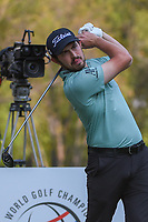 Patrick Cantlay (USA) watches his tee shot on 18 during round 4 of the World Golf Championships, Mexico, Club De Golf Chapultepec, Mexico City, Mexico. 2/24/2019.<br /> Picture: Golffile | Ken Murray<br /> <br /> <br /> All photo usage must carry mandatory copyright credit (© Golffile | Ken Murray)